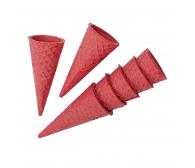 """Сахарный рожок """"Цветной"""" 110, розовый  ( 320 шт)"""