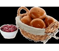 Пирожки с вишневой начинкой (замороженный), (70г*30шт) 2100г