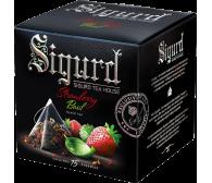 Чай SIGURD пирамидки черный клубника-базилик Black Tea Strawberry & Basil 15*2гр