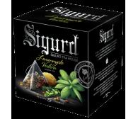 Чай SIGURD пирамидки зеленый лимонный мирт-вербена Green Tea Lemonmyrte & Verbena 15*2гр